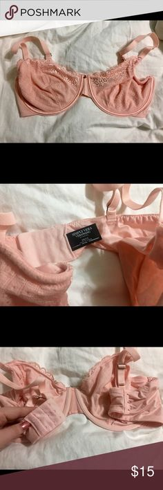 Vera Wang Peachy Pink Demi Bra Worn once, like new condition. I'm not a 38DD I'm a 34C, didn't need to wear the 38's anymore I lost a lot of weight after surgery. Vera Wang Intimates & Sleepwear Bras