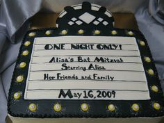 We love this Bat Mitzvah Cake themed like a marquee. This would be a great entry for our Mazel 13 Pin & Win Contest! Share yours!