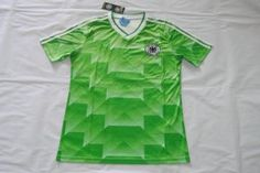 Germany National Team Green Jersey 90 Retro Soccer Shirt [F305]