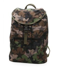VALENTINO Camustars Backpack. #valentino #bags #leather #nylon #backpacks #