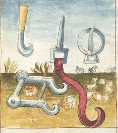 Bellifortis VerfasserKyeser, Conradus  ErschienenElsaß, [um 1460] Ms. germ. qu. 15  Folio 152r