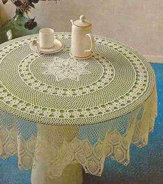 """Patrón #152: Mantel Redondo """"Las Pasionarias"""" a Crochet #ctejidas http://blgs.co/phN1hh"""