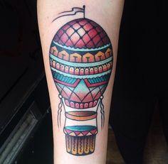 Hot Air Balloon // Color Tattoo
