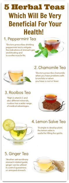 5 Herbal Teas Which Will Be Very Beneficial For Your Health!