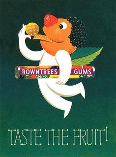 "Anuncio a favor de ""Rowntree's Fruit Gums""."