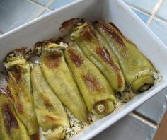 10 Greek Recipes for Summer Vegetables: Spicy Stuffed Sweet Peppers with Feta