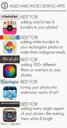 Summertime means plenty of pictures- edit your pictures to be the best they can be with these 5 must-have apps!