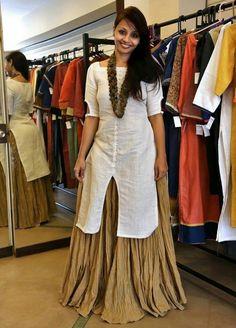 Art+Silk+Beige+Plain+Semi+Stitched+Lehenga+Style+Suit+-+LPAN at Rs 1499