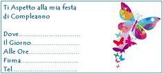 invito farfalle colorate