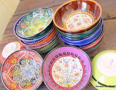 Turkish ceramic bowls - 16cm - colourful, food safe,