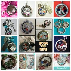 Origami Owl lockets for motorcycle (bike week), St Louis Cardinals, Chicago Cubs, Mom, Cancer survivor, University of Kentucky, travel and more.  So many options.  What do you love?
