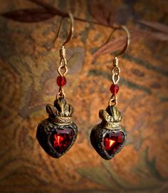 Madeleine  Sacred Heart custom made earrings by ParrishRelics, $58.00