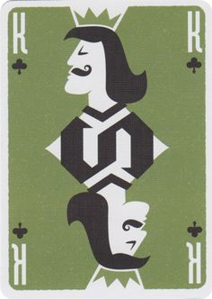 King of Clubs from Movember Playing Cards
