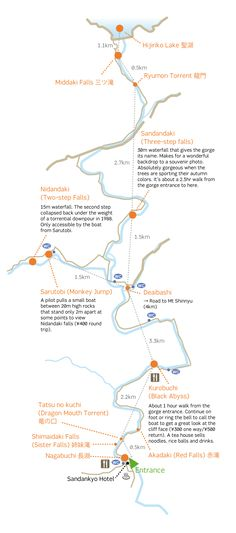 Hiking Sandan-kyo Gorge – GetHiroshima - Sandankyo Map