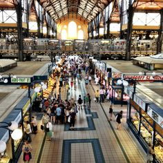 Central food market in Budapest, Hungary.
