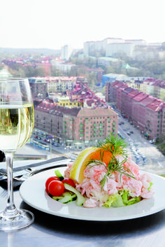The world´s greatest shrimp sandwich at Heaven 23in Gothenburg, Sweden