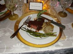 Filets Lili, Potatoes Anna & Spring Asparagus, Authentic Titanic Dinner Fare