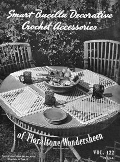 Decorative Home Accessories doilies, luncheon sets, dresser set, chair sets, table runner Vintage Crochet Patterns Book for download