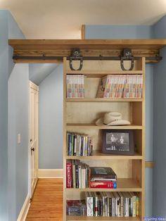 Genius Secret Room Ideas That Inspiring 19 Sliding Door Bookcase Diy Bookshelf