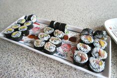 Zelf sushi maken is zo moeilijk nog niet! Sashimi, Veggies, Lunch, Ethnic Recipes, Noodles, Food Ideas, Budget, Nice, Macaroni