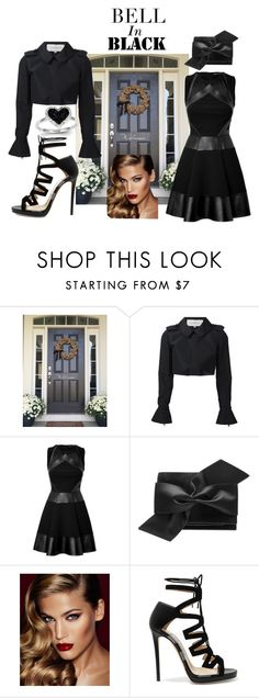 """Bell In Black"" by jaymagic ❤ liked on Polyvore featuring Carolina Herrera, David Koma, Victoria Beckham, Charlotte Tilbury, Jimmy Choo and Kevin Jewelers"