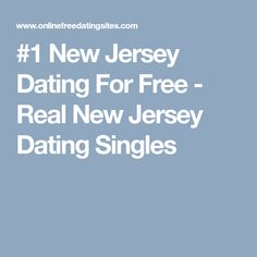 Free dating new jersey