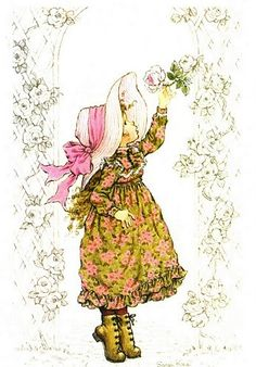 The Perfect Rose Vintage Cards, Vintage Postcards, Mary May, Decoupage, Illustrations Vintage, Vintage Drawing, Holly Hobbie, Australian Artists, Cute Illustration