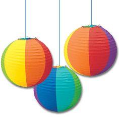 Beach ball paper lanterns