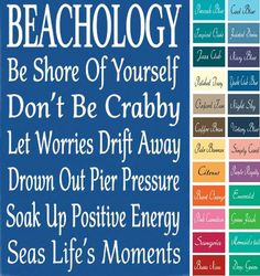 Beachology Wood Sign in Many Colors.... http://www.beachblissdesigns.com/2017/03/beachology-wood-sign-in-many-colors.html