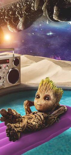 Most Cutest Baby Groot Famous And Popular New Wallpaper Collection. Groot Wallpaper From Guardian's Of Galaxy. Pop Art Wallpaper, Cute Disney Wallpaper, Cute Cartoon Wallpapers, Galaxy Wallpaper, Groot Avengers, Baby Groot Drawing, Iron Man Art, Avengers Wallpaper, Galaxy Art