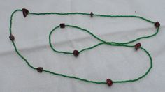 Green Seed Bead Necklace by HillsideCreations on Etsy, $5.00
