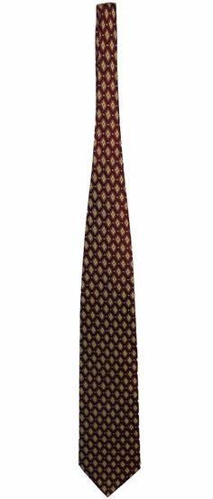Korean Air 100% Silk Mens Maroon Diamond Pattern Dress Necktie Neck Tie 56in #KoreanAir #Tie