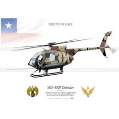 """MD530F """"Defender"""" H-132 Chile JP-1147 - Aviationgraphic"""