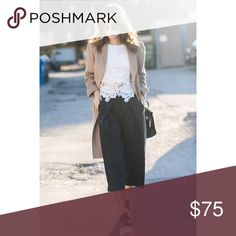 Kate Spade Culotte Pant Yes, culottes are back! Wear them with a white button up blouse or a boxy crop top. Brand new without tags! Marked to avoid returns.  • Ask all questions prior to purchase • Bundle & save  • Feel free to make your best offer! kate spade Pants Boot Cut & Flare