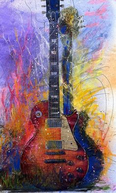 Guitar art idea by Mary Bowen