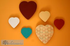Chocolate heart boxes into decor! So smart!
