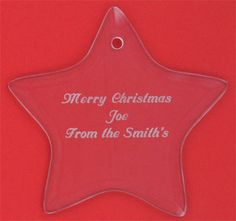 Personalized Gl Star Ornament Christmas Gifts Favor Favors Under 10