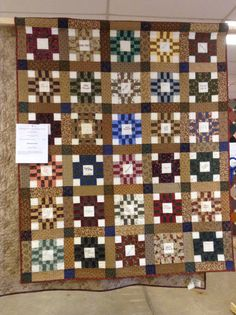 Friendship quilt blocks from Guild Members for serving as President for 2 yrs.