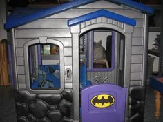 This is the playhouse we bought, cool paint idea. Little Tykes Playhouse, Toddler Playhouse, Build A Playhouse, Playhouse Outdoor, Little Tikes, Outdoor Playground, Painted Playhouse, Plastic Playhouse, Playhouse Ideas