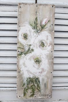 86 Stunning Art Canvas Painting Ideas for Your Home - artmyideas Farmhouse Paintings, Country Paintings, Pallet Art, Painting & Drawing, Tole Painting, Rustic Painting, Painting Burlap, Flower Art, Flower Fairies