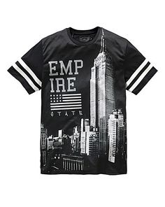 Label J Empire State T-Shirt Regular | Jacamo - that should be mine!