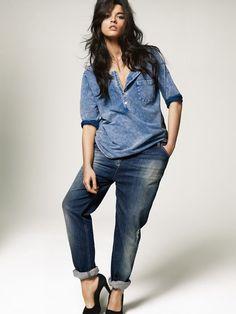 Plus Size Models   Plus Size Model Crystal Renn Jeans Image #3 - February 7, 2013