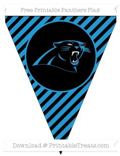 Free Diagonal Striped Panthers Printable Flag Panther Logo d23e7bbba