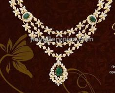 Fashionable diamond necklace in three steps - Latest Jewellery Designs