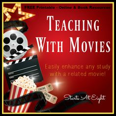 Teaching with Movies is a great way to enhance any curriculum or topic. Using movies is a great way to bring concepts to life.