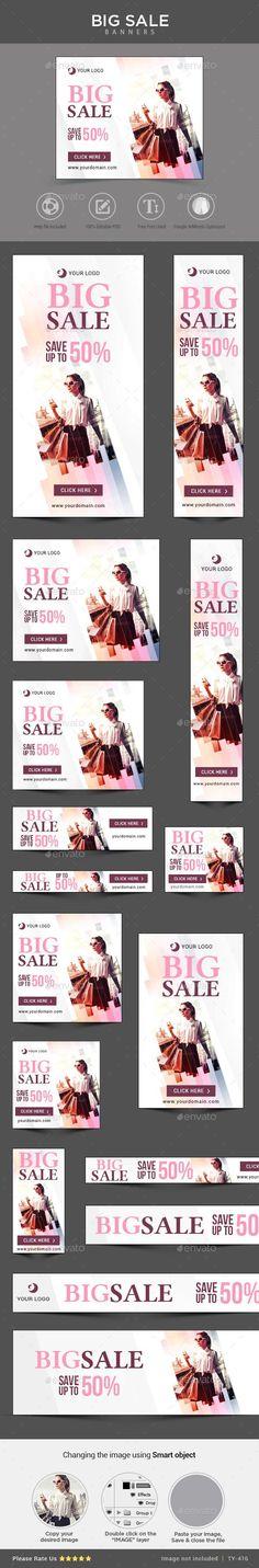 Big Sale Banners Template #web #design Download: http://graphicriver.net/item/big-sale-banners/11215665?ref=ksioks