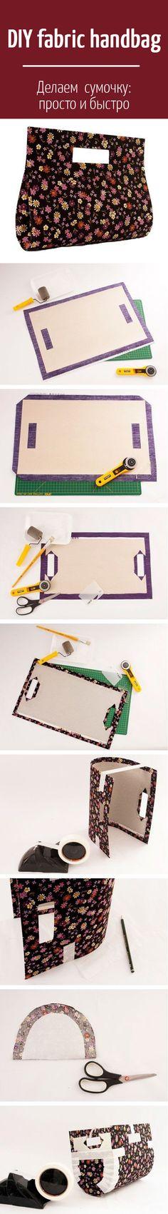 DIY fabric handbag /