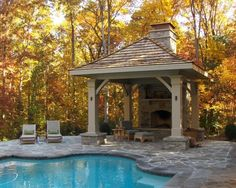 Traditional Pool FIREPLACE Design, Pictures, Remodel, Decor and Ideas - page 6