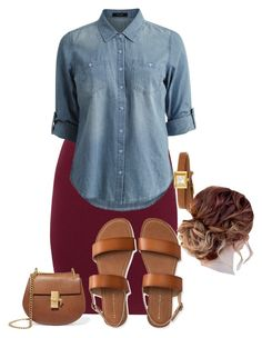 """""""Apostolic Fashions #1775"""" by apostolicfashions on Polyvore featuring Gucci, Aéropostale, Vila Milano and Chloé"""