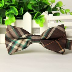 High quality fashion men casual Cotton bow tie men's bowties for man butterfly cravat Plaid bowtie